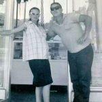 Nancy and Edgar Jones at the Burger Girl, Logan, WV