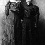Alice Bowling Taylor on the right with her sister, Lizzie.