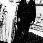 Alice Bowling Taylor with her father, Bill Bowling taken at the home of Alonzo Bowling of Hitchens, KY about 1927.