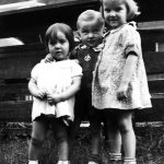 Alice Doreen Taylor, Johnny Jones & Frances Jones.  Taken at Monitor, WV.