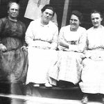 Alice Taylor with Neighbors taken about 1923 on her front porch at Monitor, WV.