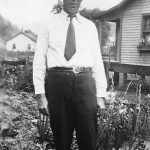 Alonzo Clyde Taylor taken at Monitor, WV in the yard of his parents, Scott and Alice Taylor.