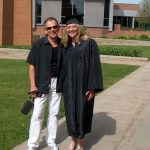 Amber Shambo and Robert McCormack (her uncle) at Amber's graduation from Valpraiso University.