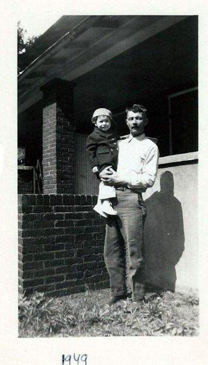 Balazs Piros with grandson, Bob Piros in 1949