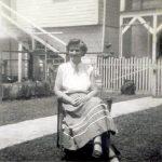Bethel McNeely Morrison taken at her home at 663 Stratton Street Daughter of Rev. J Green McNeely, Wife of John Morrison owner of Morrison's Drive-In