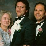 Betty Crisp McCormick, Chuck McCormick and Ronald McCormick taken at Church and Diane's wedding in Chicago.