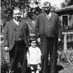 Bijah Taylor, Louis Taylor and Scott Taylor taken in 1927 in the yard of Bijah Taylor in Chicago.
