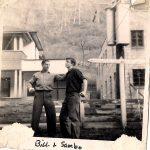 Bill Mays and Sambo Tiller - John Tarkany home in the background.