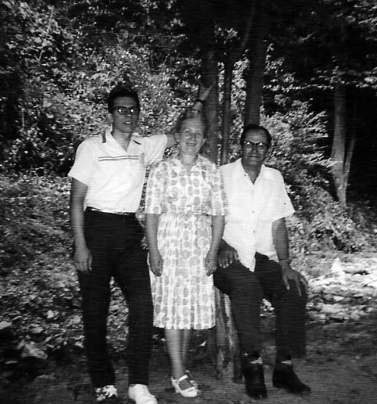 Bob McCormack, Virginia McCormack & Clovis McCormack at Camp Chief Logan Park about 1962.