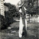 Bobby Piros & Anna Tarkany 1948 in front yard of John & Anna Mae Bush
