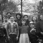 Front: Drurry Browning, Grant Browning, Charles Lacy, Eddie Atkins, Doris Atkins, Sammy Walker. Back: Fay Lacy, Katye Atkins, Ruth Dingess, Alberta