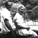 Clovis and Virginia McCormack. Taken at Camp Chief Logan Park, Logan County, WV about 1962.