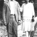 Clovis McCormack and Virginia Taylor.  Taken in 1928 on the railroad at Monitor, WV.