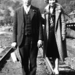 Clovis McCormack and Virginia Taylor taken on railroad track at Monitor, WV.