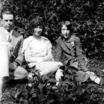 Clovis McCormack, Virginia and Elizabeth Taylor. Taken in 1928 in the yard of Scott and Alice Taylor at Monitor, WV.