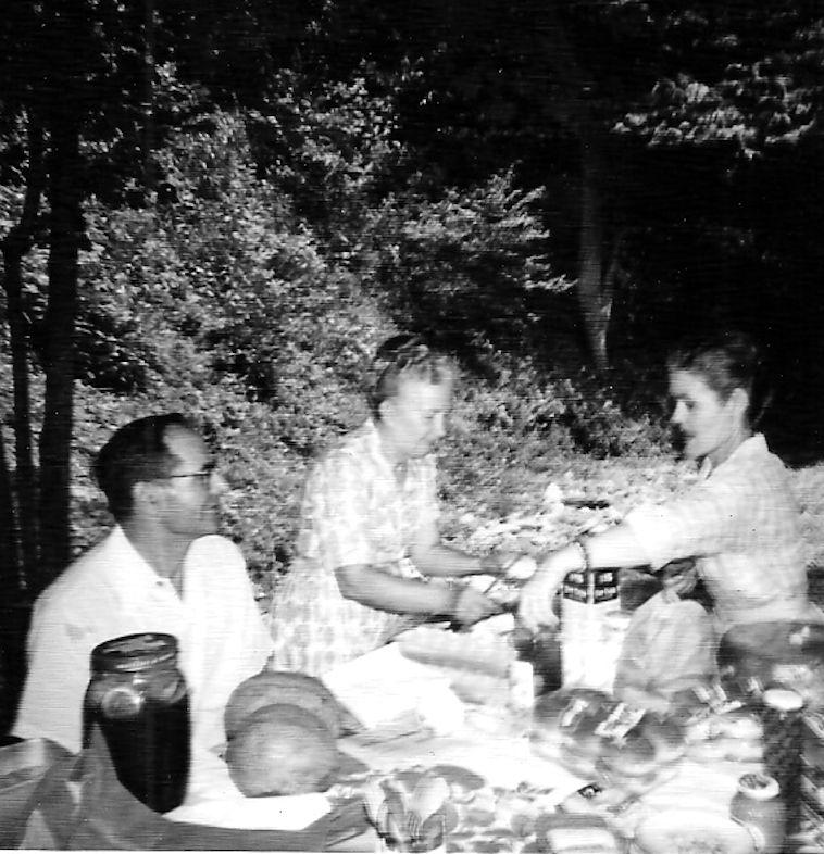 Clovis & Virginia McCormack & Emma Sexton at Camp Chief Logan Park.