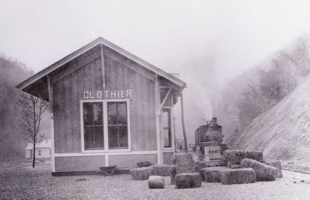 C&O Depot, Clothier, WV circa 1906