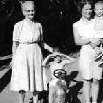 Dollie Peek, Charles, Doris and Phillip Nagy 1957. Dollie is the mother of Doris Nagy.