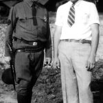 Edward Pierce Taylor and Johnny Taylor.  Ed is in his deputy sheriff uniform. Taken at Monitor, WV.