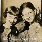 Elizabeth and Virgina Taylor of Monitor, WV.  Daughter of Scott and Alice Taylor.