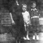 Elizabeth Jones with son, Johnny, and nephew Ronnie McCormick. Taken at Monitor, WV.