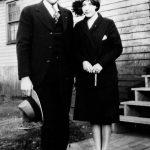 Elizabeth Taylor with boyfriend Johnny Jones of Monitor, WV taken in 1928 on the back steps of her home.