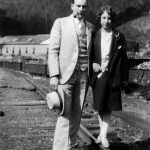 Elizabeth Taylor with boyfriend Johnny Jones of Monitor, WV taken in 1927.  Monitor Coal Company machine shop in background. About 1927.