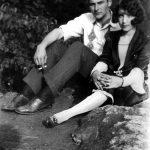 Elizabeth Taylor with boyfriend Johnny Jones of Monitor, WV.