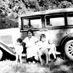 Elizabeth Taylor (wife of Bijay Taylor) with sons George, Louis & Bill. Taken during trip to WV from Chicago in 1931.