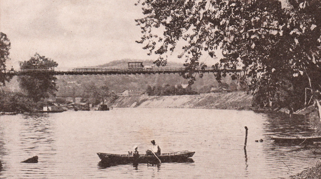 Elk River Suspension Bridge, Charleston, WV circa 1904