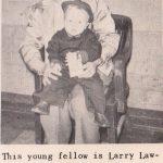 Feb. 1951, Larry Lawson Ellis and Daddy, Don.