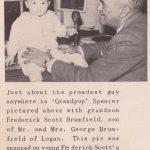Feb. 1951, Frederick Scott Brumfield and Grandpop Spencer