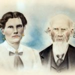 Floyd Alson McCormack and Frances Jane Ratcliff McCormack of Carter County, KY.  Individual pictures were combined after the death of Frances McCormack at the age of 33 (reason that Floyd looks older).