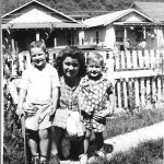 Gary K Mosley, Ruby Browning, Bobby Browning in 1952.