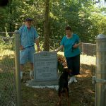 George Taylor and Catherine Taylor Family Cemetery.  Ira Williams and Debbie Millemaci (descendants of George and Catherine Taylor).
