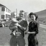Jack Ersel Taylor holding son, Jerry and wife, Marie Cressentia Taylor.  Taken in San francisco CA.