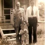 James Oscar McCormack, Clovis McCormack and Bobby McCormack taken at the Oscar McCormack home on Garner Creek, KY.