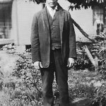 Jess Ersel Taylor. Taken in 1924 in the yard of his parent's home at Monitor, WV.