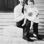 Jess Ursel Taylor Sr with infant daughter taken in 1925 at Monitor, WV.