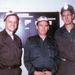 jimmy-bevino-and-unknown-other-miners-at-slagle-mine-office