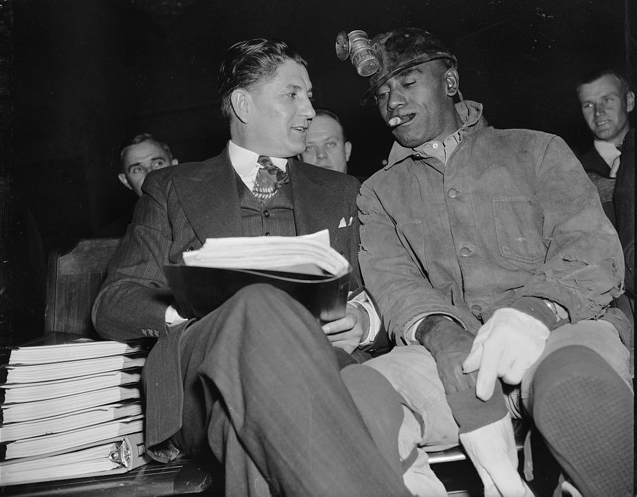 Union President, Joe Ozanic and Tom Halger of Logan WV Dec 1939