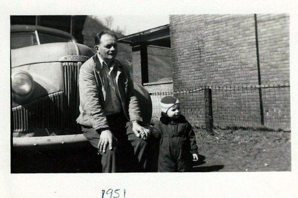 Joe Piros Sr and Bob Piros in 1951