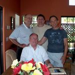 John Taylor, Gerald Taylor, Robert McCormack.and Jess Taylor (seated)  taken at the home of Robert McCormack in Palm Springs,  CA.