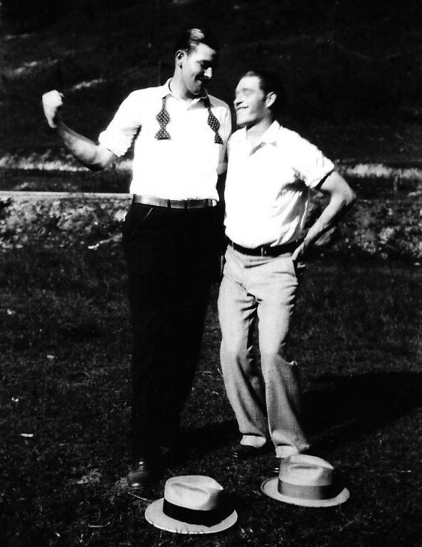 Johnny George Jones Senior with Friend