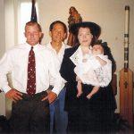 Kaitlyn Florimbio Baptism.  Uncle Robb McCormack, Granddad Robert McCormack, Mother Michelle McCormack Florimbio.