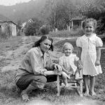 Katie McNeely and son Ralph with Joyce Killen, Mitchell Heights, WV