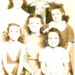 Linville Children & grandchildren  with Ma Linville -Top Virginia, Zena ( Ma) Linville, Ethel; Bottom: Rosezena, Nellie & Thelma