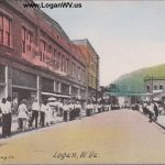 Logan, WV Street Scene about 1913