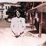 Lois Steele Varney in downtown Logan