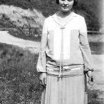 Lula Mae Adkins Taylor, wife of Jess Ursel Taylor of Monitor, WV.  Taken in 1927.